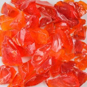 Chunky Orange Aquarium Glass