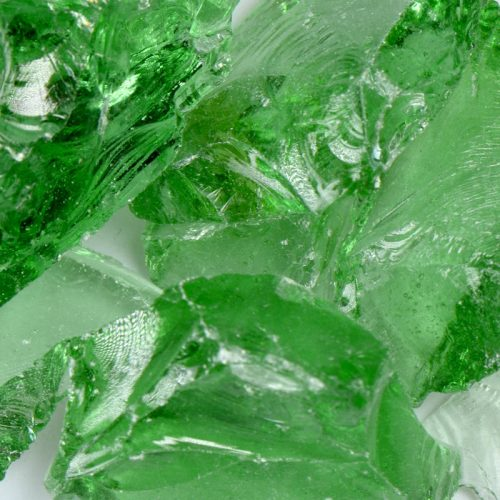 Crystal Green Fireplace Glass