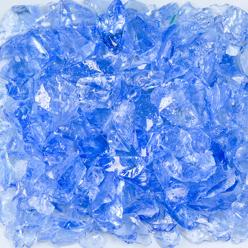Light Blue Size 1 Terrazzo Glass - 1 Lb Bag