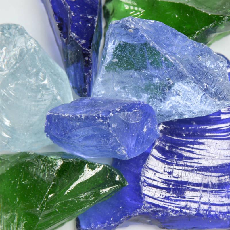 River Mix Medium Landscape Glass | Landscape Glass | Landscape
