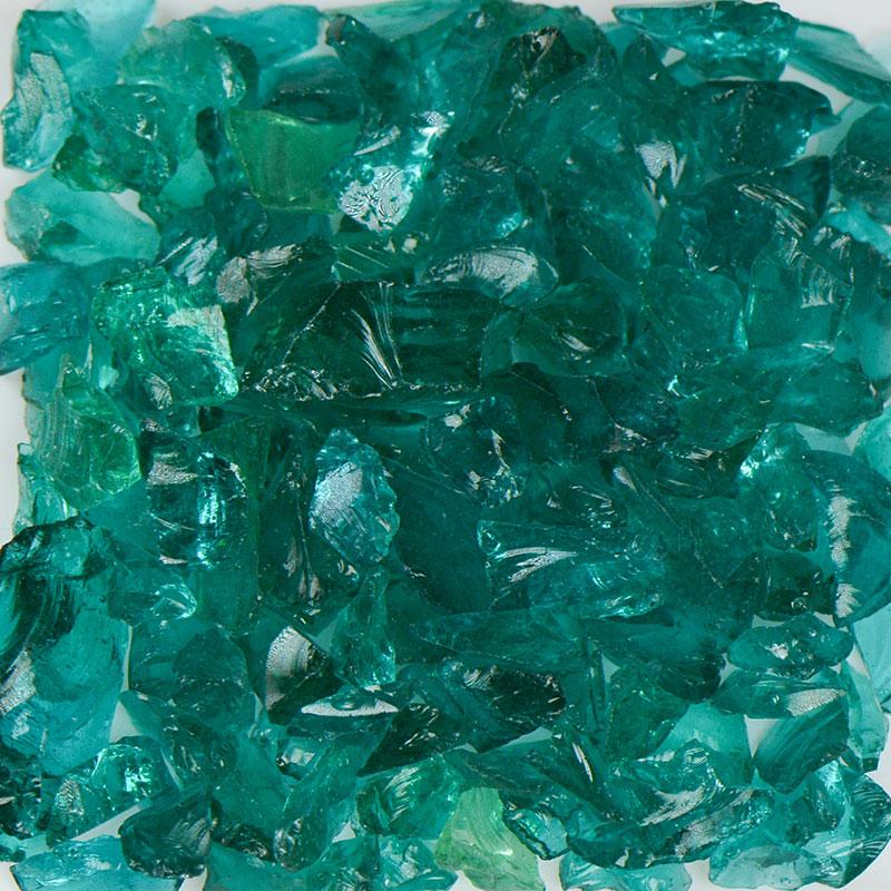 Teal Size 2 Terrazzo Glass Terrazzo Glass Terrazzo