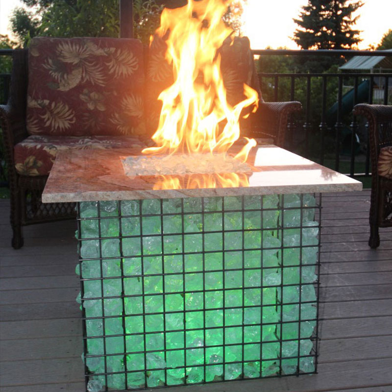 Gabion Fireplace Basket 24x24 Gabion Display