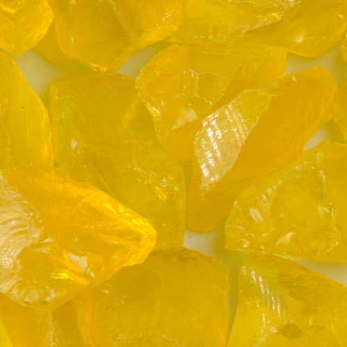 Chunky Yellow Fireplace Glass